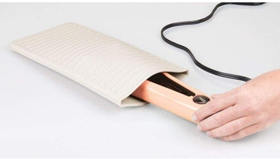 mDesign Hot Tool Mat and Travel Pouch