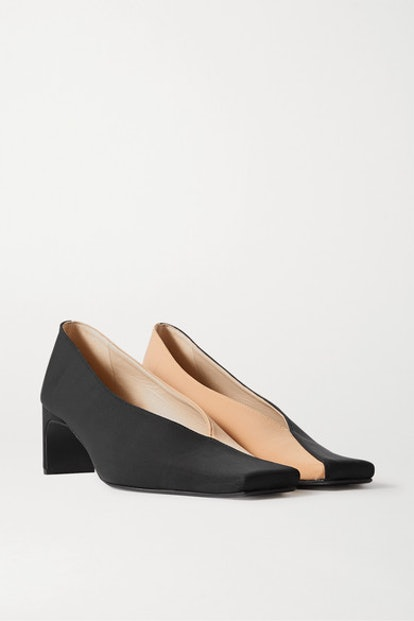 Two-Tone Faille Pumps