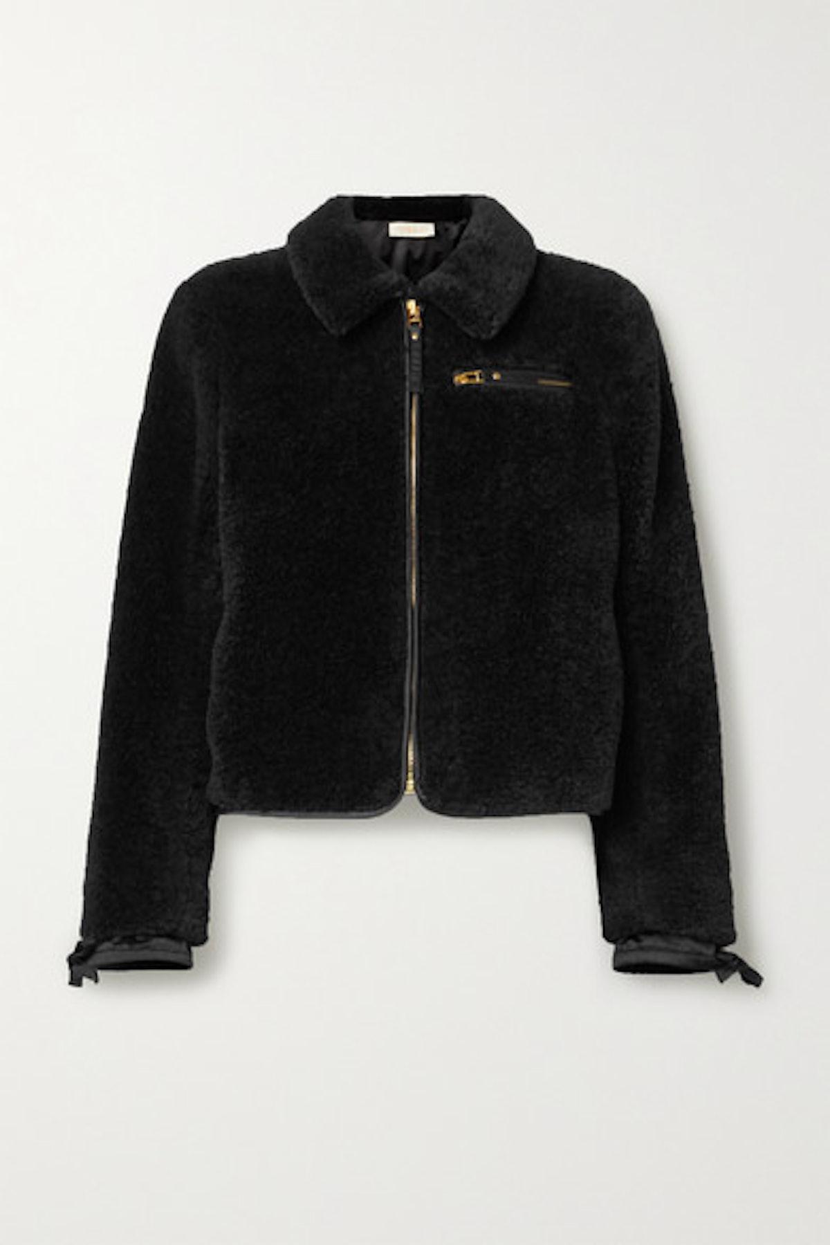 Faux Shearling Bomber Jacket