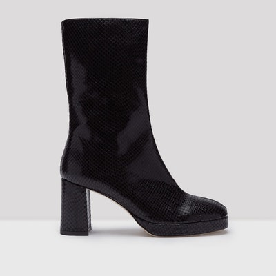 Carlota Black Snake Leather Boots