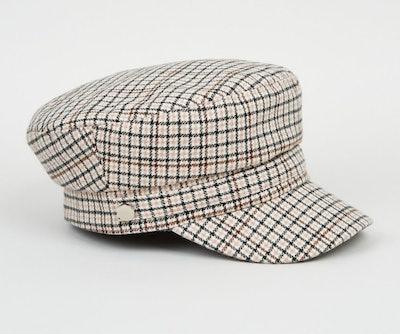 Off White Check Baker Boy Hat
