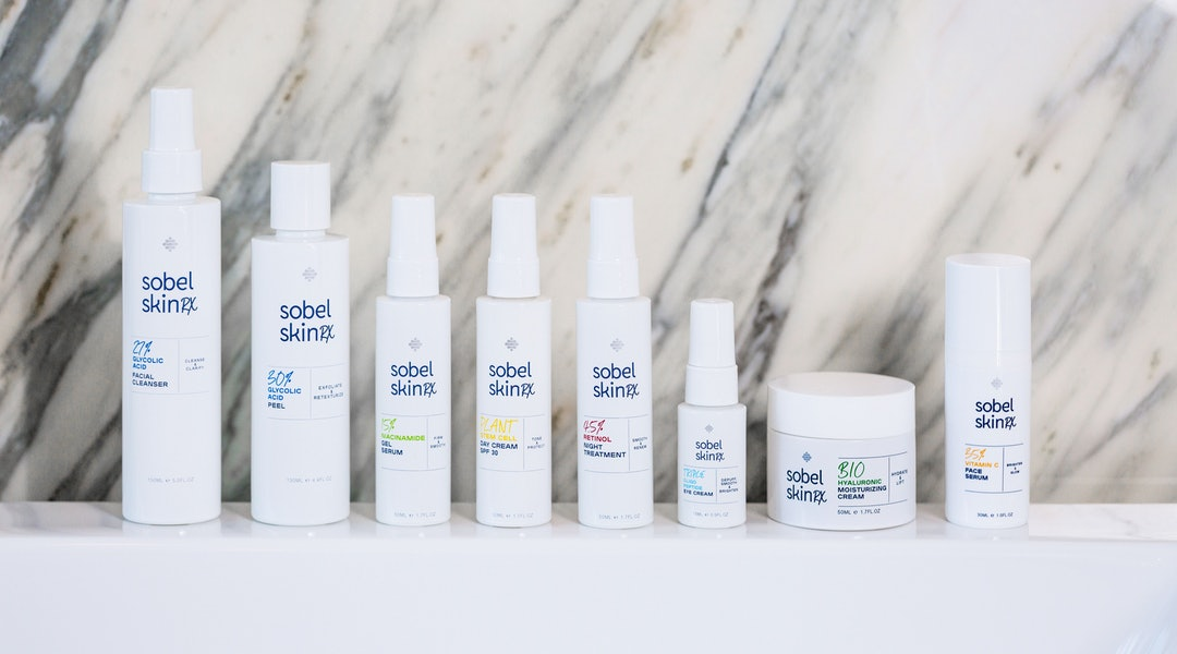 Eight products from new skincare brand SOBEL SKIN Rx