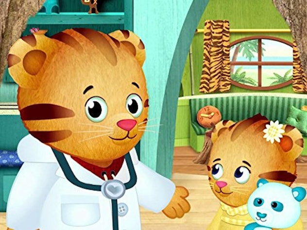 Daniel Tiger teaches the lesson that new things can be scary, but to do them anyway.