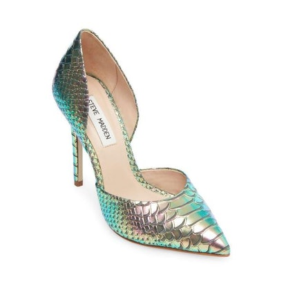 Hypnotic Heel in Turquoise Snake