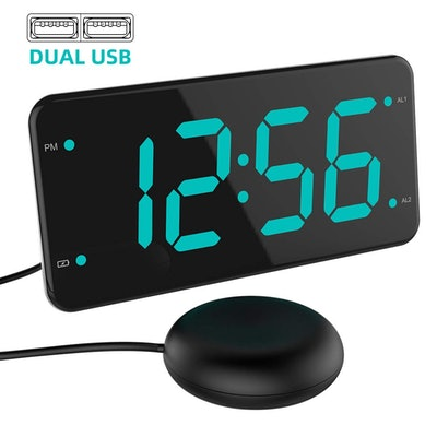 Loud Alarm Clock with Bed Shaker, Vibrating Alarm Clock for Heavy Sleepers