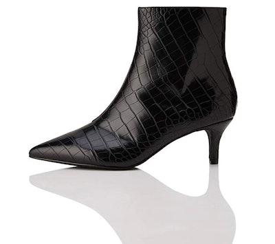 find. Women's Kitten Heel Embossed Ankle Boots