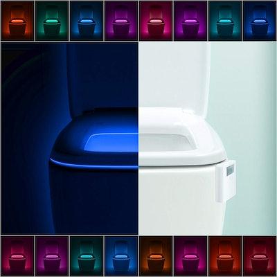 umiLux Advanced 16-Color Motion Sensor LED Toilet Bowl Night Light (2-Pack)