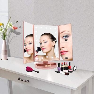 WEILY Lighted Makeup Mirror