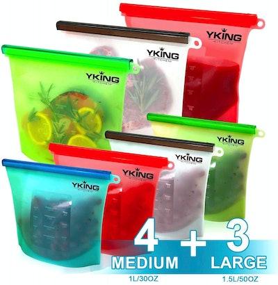 YKing Reusable Food Storage Bags (Set of 7)