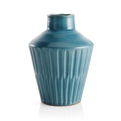 Izma Angled Dark Teal Vase