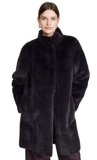Velvet by Graham & Spencer Women's Mina Lux Fur Coat