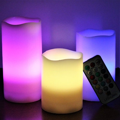 LED Lytes Multi-Colored Flameless Candles (3 Pack)