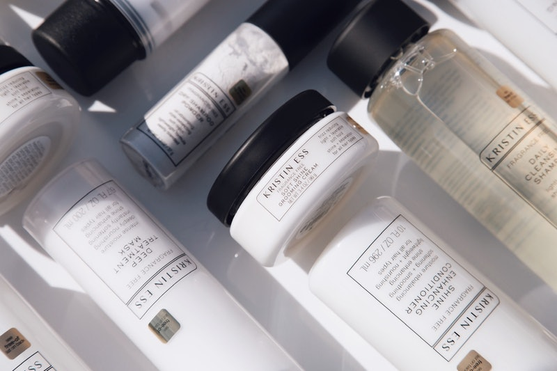Haircare products from Kristin Ess' new Fragrance Free Collection