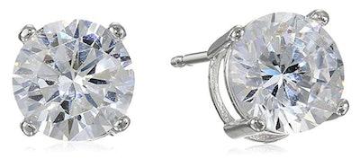 Amazon Essentials Sterling Silver Cubic Zirconia Stud Earrings