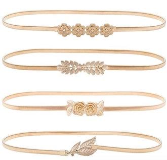 HaoPiDai Brand Gold Belts (4-Pack)