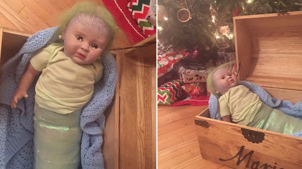 One mom revealed how she unknowingly bought a mermaid doll on Etsy that was filled with cocaine in an epic Christmas tale.