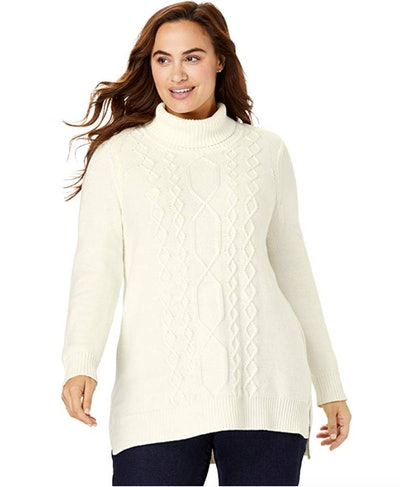 Woman Within Women's Plus Size Cowlneck Sweater