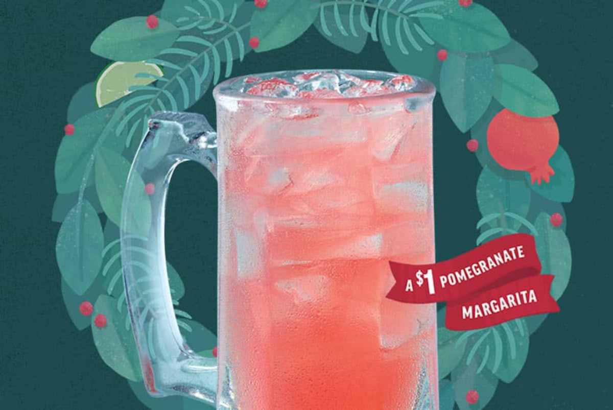 Applebee's $1 Merry Dollarita For December 2019 is going to make your holidays brighter.