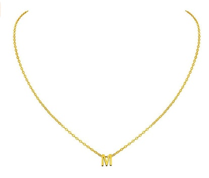 MOMOL Tiny Initial Necklace