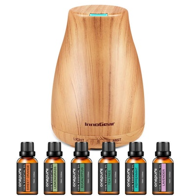 InnoGear Aromatherapy Diffuser with Essential Oils (6-Pack)