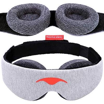 Manta Blackout and Zero Pressure Customizable Eye Mask