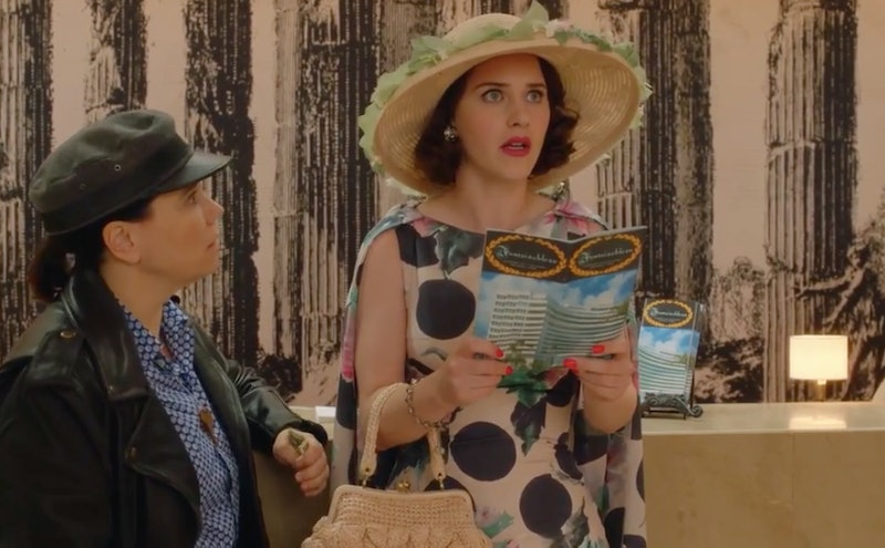 Midge Maisel and Susie Myerson in The Fontainebleau Hotel in Miami Marvelous Mrs. Maisel Season 3