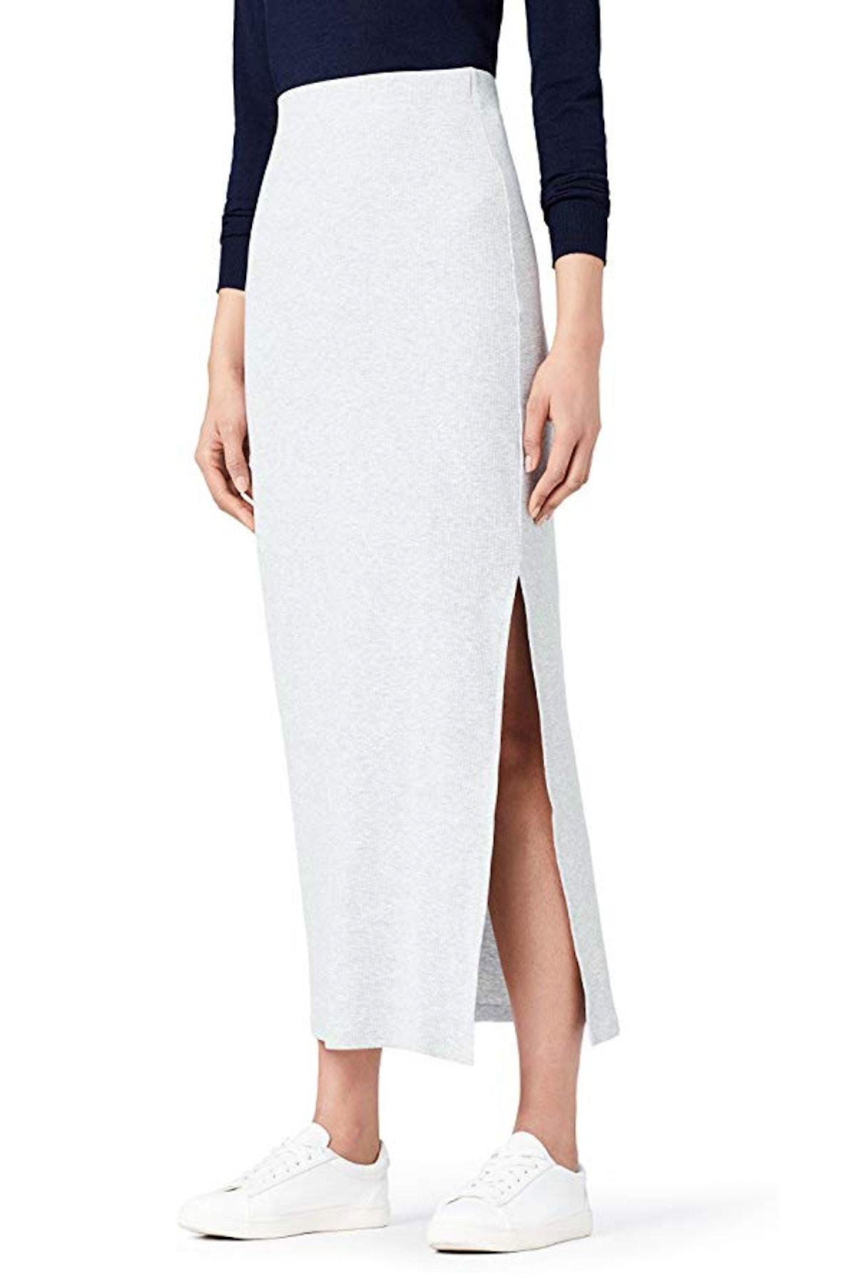 Meraki Women's Rib Maxi Skirt
