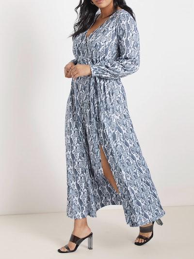 Eloquii Women's Plus Size Printed Maxi Dress