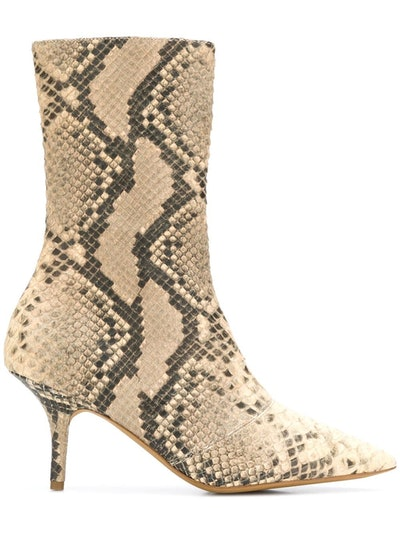 Faux Snake Effect Boots