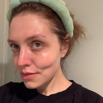 Drunk Elephant's new F-Balm Electrolyte Waterfacial on skin