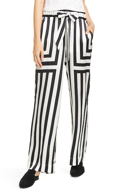 Mixed Stripe Silk PJ Pants