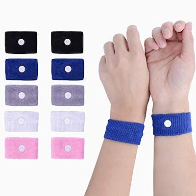 LYJEE Motion Sickness Nausea Relief Wristbands (5 Pairs)