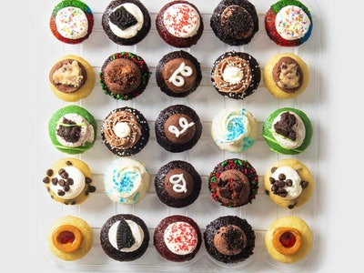 Gifts for New Moms; Set of 25 assorted mini cupcakes from Baked by Melissa