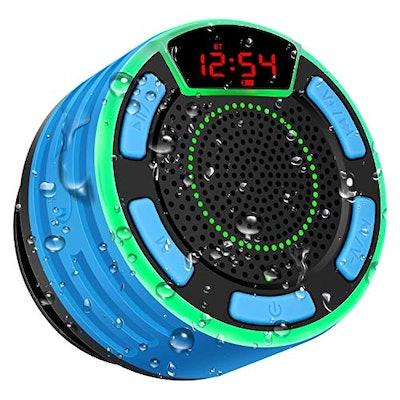 Waterproof Portable Wireless Shower Speaker by Basspal