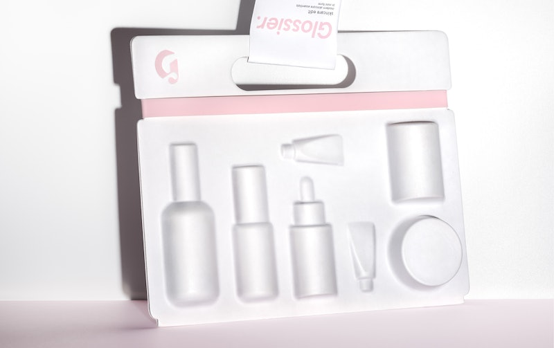 Glossier's new Skincare Edit and carrying case