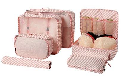 BAGAIL 7-Piece Lightweight Luggage Organizers