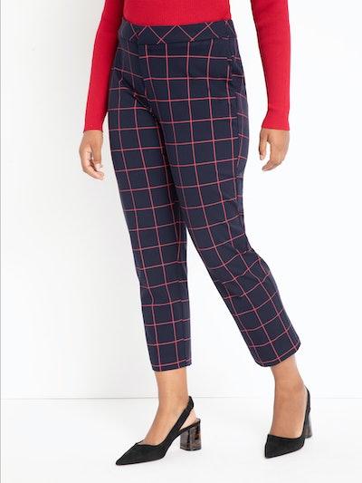 Eloquii Women's Plus Size 9-to-5 Windowpane Pant