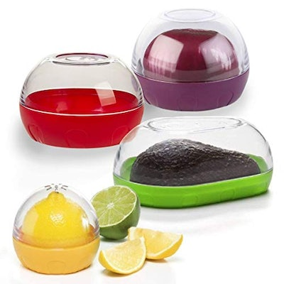 Happy Sales Onion, Tomato, Citrus, and Avocado Keeper (4-Pack)