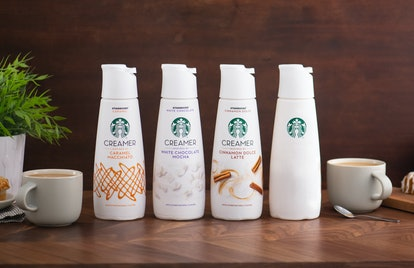 You can score a bottle of the Starbucks mystery creamer by guessing its flavor on Twitter.