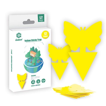 Gideal Dual-Sided Yellow Sticky Traps (12-Pack)