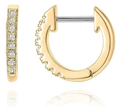 PAVOI 14K Gold-Plated Cubic Zirconia Cuff Earrings