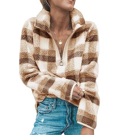 Angashion Women's Long Sleeve Sweatshirt