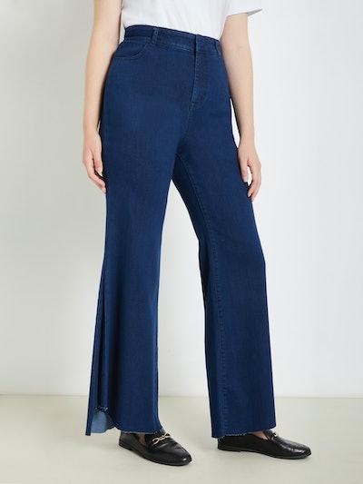 Eloquii Women's Plus Size Drama Flare Jean