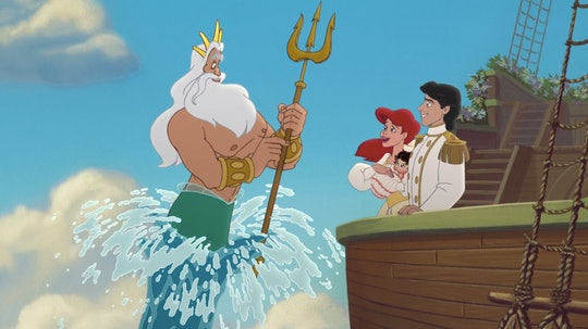 King Triton, Ariel, Eric, and a baby