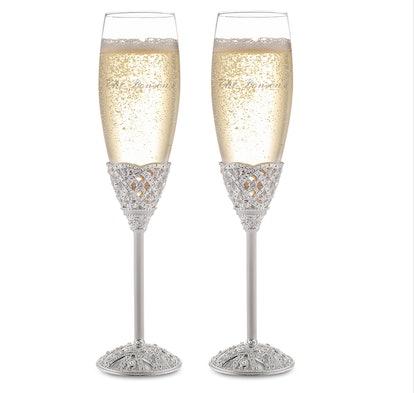 Engraved Champagne Flute Set