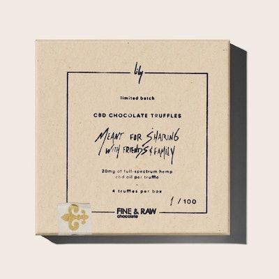 Fine & Raw X Lily CBD Chocolate Truffle