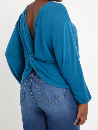 Eloquii Women's Plus Size Twist Back Knit Top