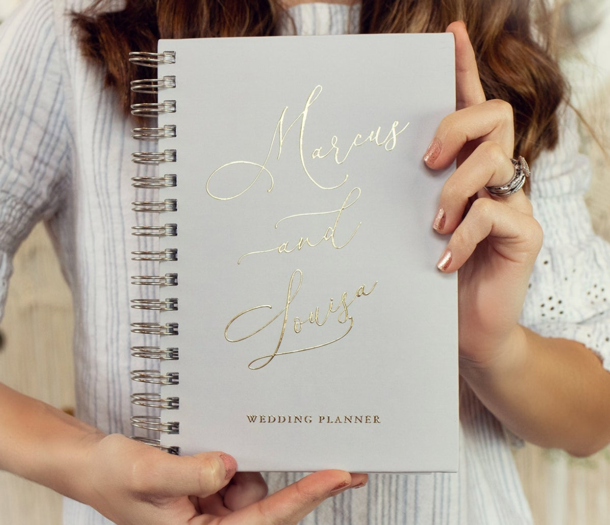 Grey Wedding Planner Book