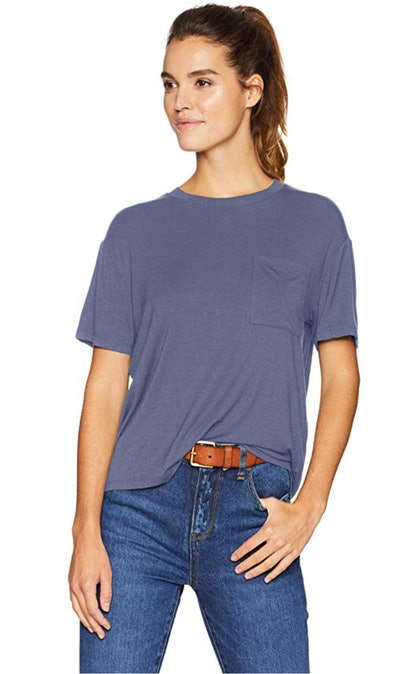 Daily Ritual Women's Jersey Short-Sleeve Boxy Pocket Tee