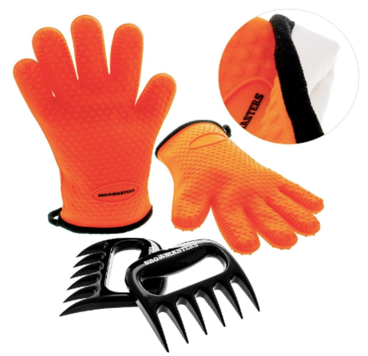 TCP Global BBQ Master Heat Resistant Silicone Cooking Gloves